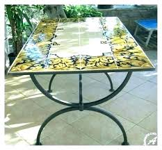 tile patio table idea for replacing my shattered glass patio table top replacement tiles tile home