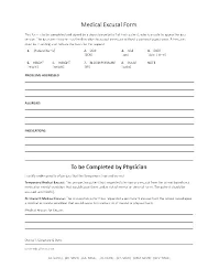 Fake Doctors Note Free For Work Fake Medical Excuse Forms Doctors Note Template For Surgery
