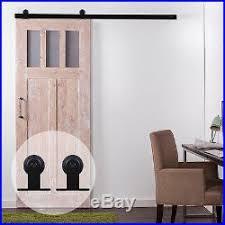 4ft 16ft wood sliding barn door hardware kit rail t roller hanger single door