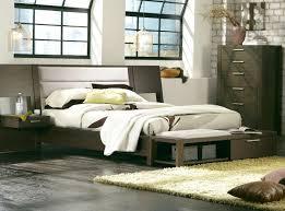 Platform Bedroom Furniture Montreal Platform Bed With Upholstered Panel Nightstands Casana