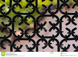 Wrought Iron Color Black Wrought Iron Fence Stock Photo Image 43313563