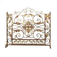 gold fireplace screen antique gold single panel fireplace screen