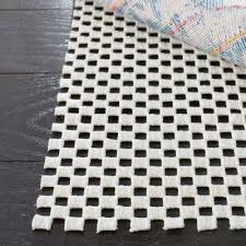 grid white 5 ft x 8 ft non slip rug pad