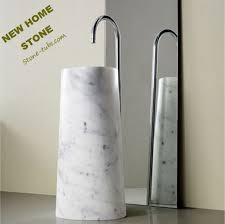 marble pedestal sink. Simple Sink Carrara Marble Pedestal Sink 2015 Best Design Contemporary Angled  From One Piece Magnificent Stone On