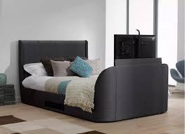 tv bed frame. titanium t3 slate grey fabric upholstered samsung led tv bed frame tv u