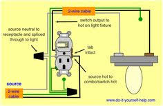 wiring diagram receptacle to switch to light fixture for the home combination switch receptacle wiring diagram wiring diagram combo switch