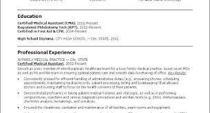 Nursing Assistant Resumes Certified Nursing Assistant Resume Elegant