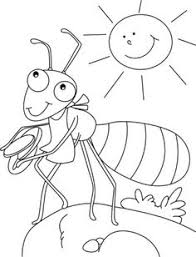 Small Picture THE GRASSHOPPER AND THE ANT coloring page A is for Pinterest