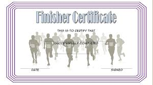 Fun Run Certificate Template Running Certificate Templates Magdalene Project Org