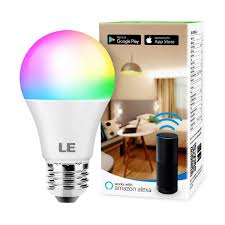 Le Lighting Le Wifi Smart Led Light Bulbs Color Changing Lights Rgbw 2700k 6500k Compatible With Alexa Google Home Dimmable With App No Hub Required 60