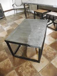 zinc top brick maker style coffee table stissing design