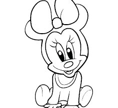 Minnie Mouse Coloring Pages Pdf Outstanding Baby On Mickey Minnie