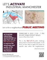 Public Meeting 2 Announcement Activating Industrial Manchester