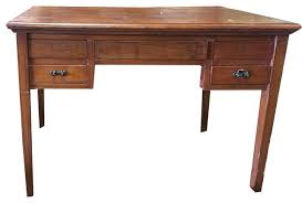consigned study table desk solid wood console table storage drawer