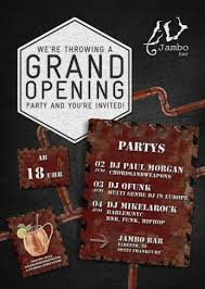 bar grand opening flyer 04 06 2016 grand opening jambo bar frankfurt am main