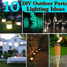 diy outdoor party lighting. illuminating the patio or garden is most important part of outdoor party decoration lighting should be stunning as well within your diy o