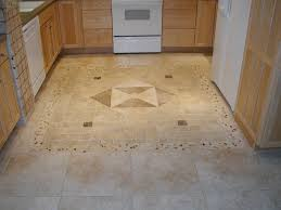 kitchen big and small cream tile kitchen floor combined with brown wooden cabinet with drawers