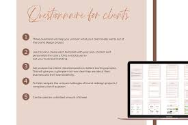 Questions To Ask Clients For Graphic Design Branding Questionnaire Canva