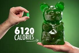 the world s largest gummy bear is 6 120 calories