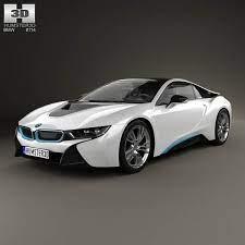 3d Model Of Bmw I8 2014 Bmw I8 Bmw Hybrid Sports Car