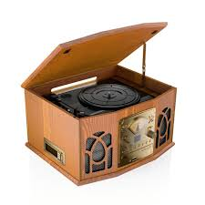 itek antique style classic record cd fm radio usb play back cassette player wood effect system co uk hi fi speakers