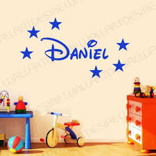 disney style personalised name stars bedroom vinyl wall art sticker choose a colour  on stars vinyl wall art with disney style personalised name stars bedroom vinyl wall art
