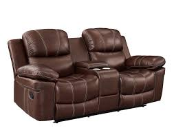 light brown power dual recliner console loveseat to enlarge