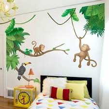jungle monkey children s wall sticker set decorative accessories