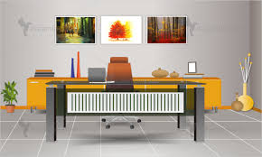 decorated office. Decorated Office N