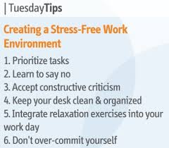 Positive Work Environment Quotes Inspiration Tuesday Tips Creating A Stress Free Work Environment Daily