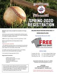 Pony Baseball League Age Chart 2020 Spring Ball Registration