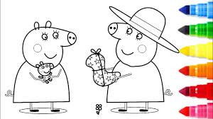Peppa pig show revolves around peppa, an anthropomorphic female. Peppa Pig Mummy Coloring Pages From The Thousand Images On The Net About Peppa Pig Mummy Peppa Pig Coloring Pages Peppa Pig Colouring Cartoon Coloring Pages