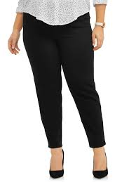 Terra Sky Jeans Size Chart Womens Plus Size 2 Pocket Pull On Pant Available In Petite Sizes