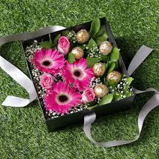 Ferrero Rocher Bouquet Designs Forever Gerbera Ferrero Rocher Flower Box
