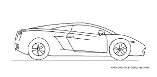 Side view jdm car drawings. Junior Car Designer How To Draw A Lamborghini Gallardo Side View The