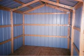 image of metal shed wall