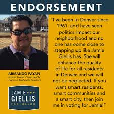 Jamie Giellis - I'm honored to have Armando Payan support my ...