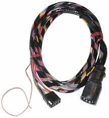 wiring harnesses marine engine parts fishing tackle basic wire harness extension inboard i o round to square 1 foot mercruiser
