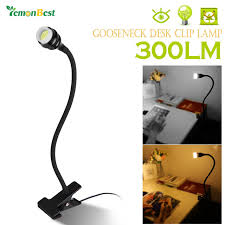 modern style flexible gooseneck 3w cob led desk clip lamp table intended for on lamps design