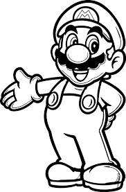Mario Color Pages For Boys Super Mario Coloring Page The Art Jinni