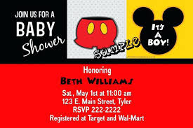 Mickey Mouse Baby Shower Invites Mickey Mouse Baby Shower