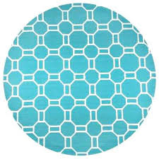 circle outdoor rug hill teal geometric 8 ft x 8 ft round outdoor area rug semi