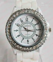 geneva watches diamond crystal face silicone jelly candy watches please leave us a message about the color you want thanks for your help