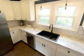 the white kitchen with marble look laminate oh for s prepare average cost of countertops to