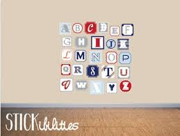 nursery wall decals alphabet wall