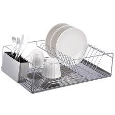 Space Saving Dish Rack Kitchen Good Two Tier Stainless Steel Dish Rack Space Saving Two