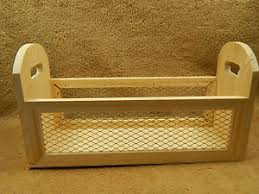 Decorative Wire Tray Unfinished Wood Wooden Caddy Tray Box with Chicken Wire Kitchen Bath 61