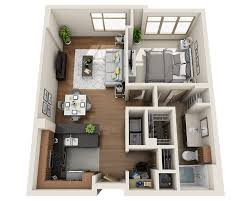 Plan B (A1D). 1 Bedroom ...
