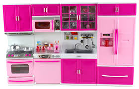 Barbie Kitchen Furniture Amazoncom My Happy Kitchen Full Deluxe Kit Battery Operated Toy