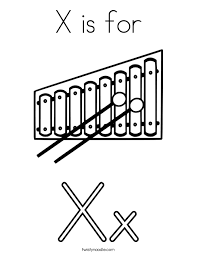 Small Picture X For Xylophone Coloring PageForPrintable Coloring Pages Free